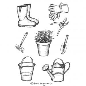 Gardening illustrations