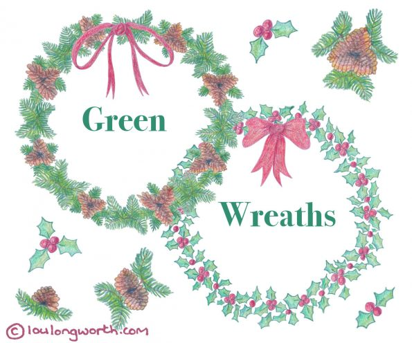 Christmas Wreath Illustrations