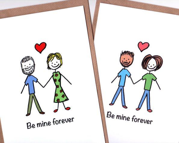 Custom stick figure greeting cards on etsy