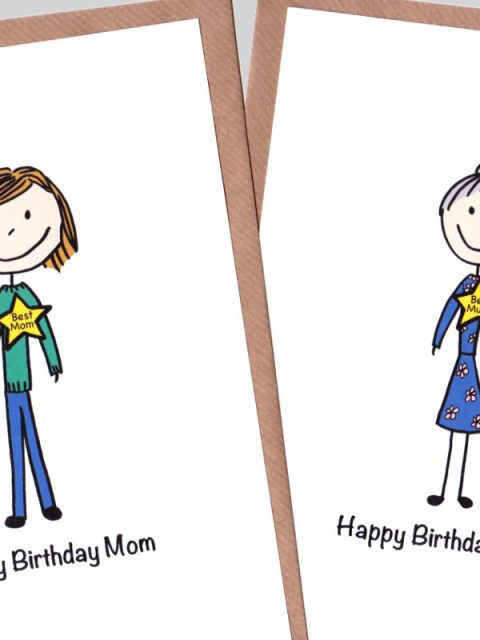 custom mom birthday card
