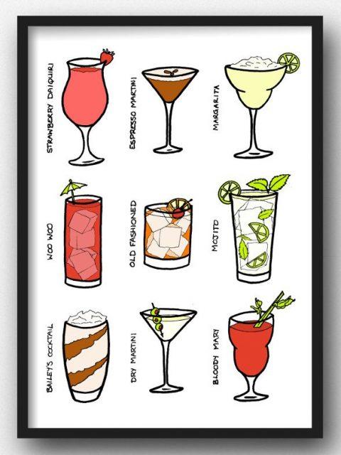 Cocktails print download