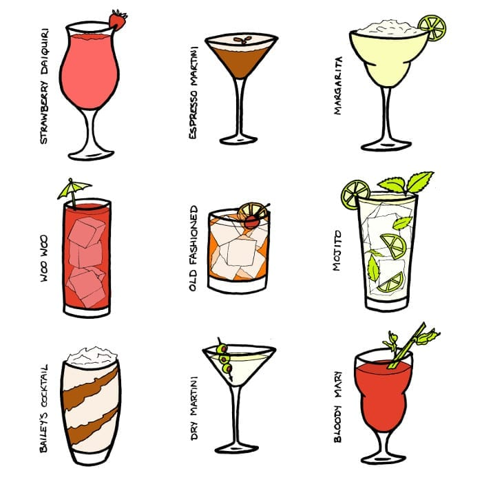 Cocktail Illustrations