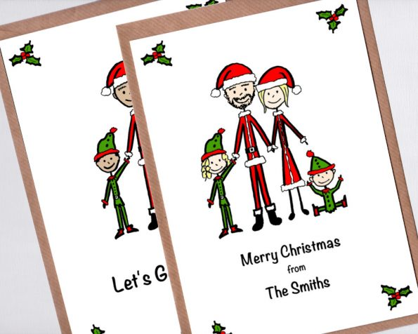 Family portrait christmas cards