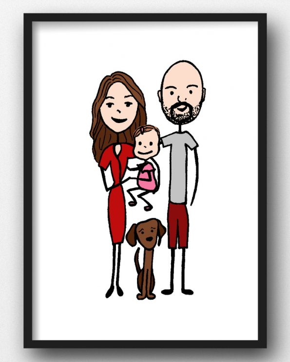 Custom family portrait for Mother's Day