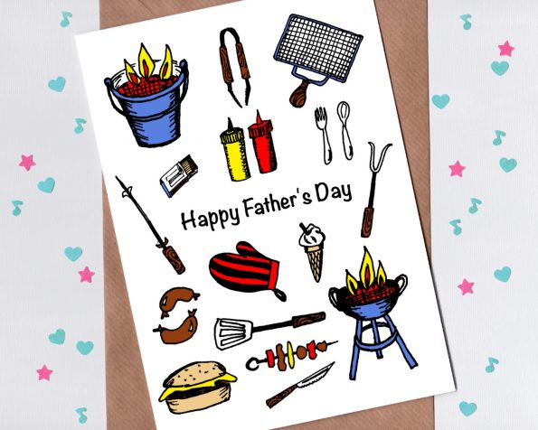 BBQ themed Fathers Day card