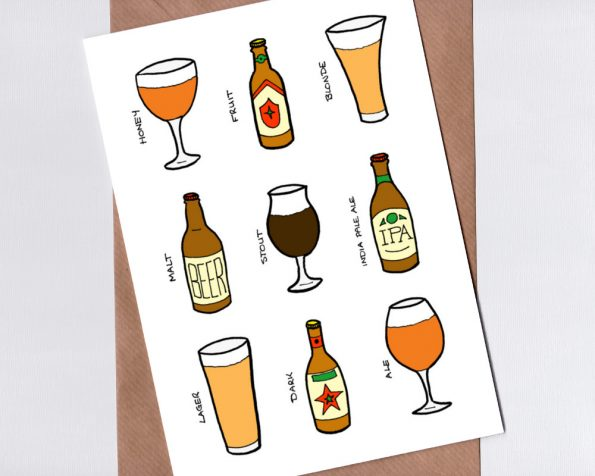 Beer themed card