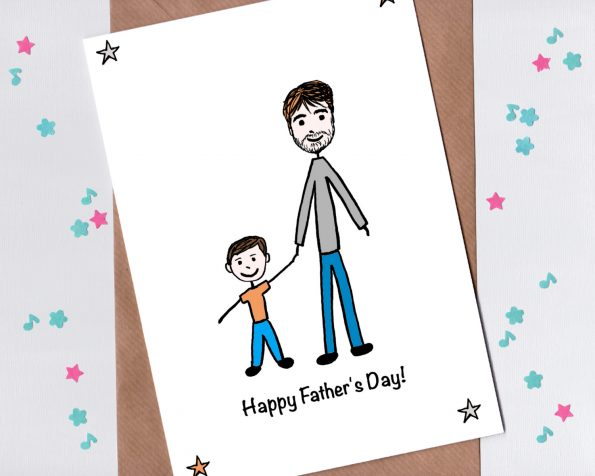 Fathers Day card with child