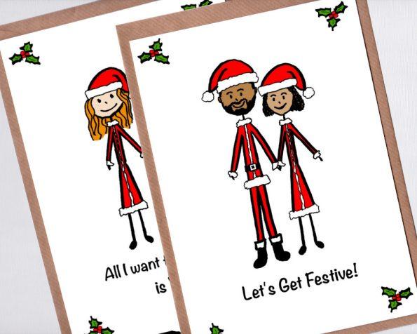 Couple portrait Christmas card