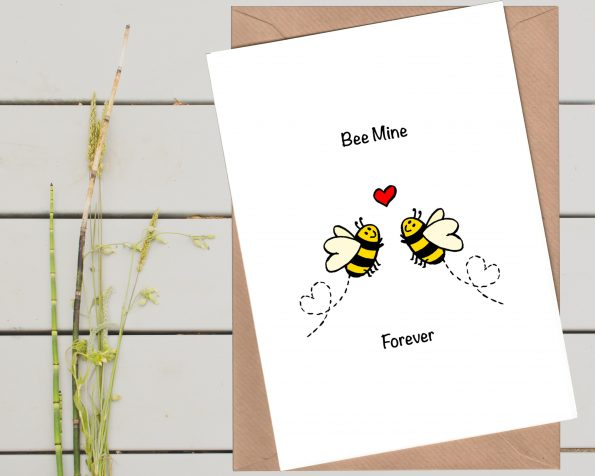 Bee Mine Forever Valentine Card