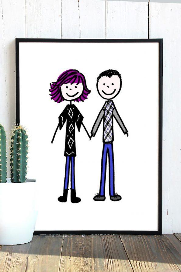 Couple Portrait Print