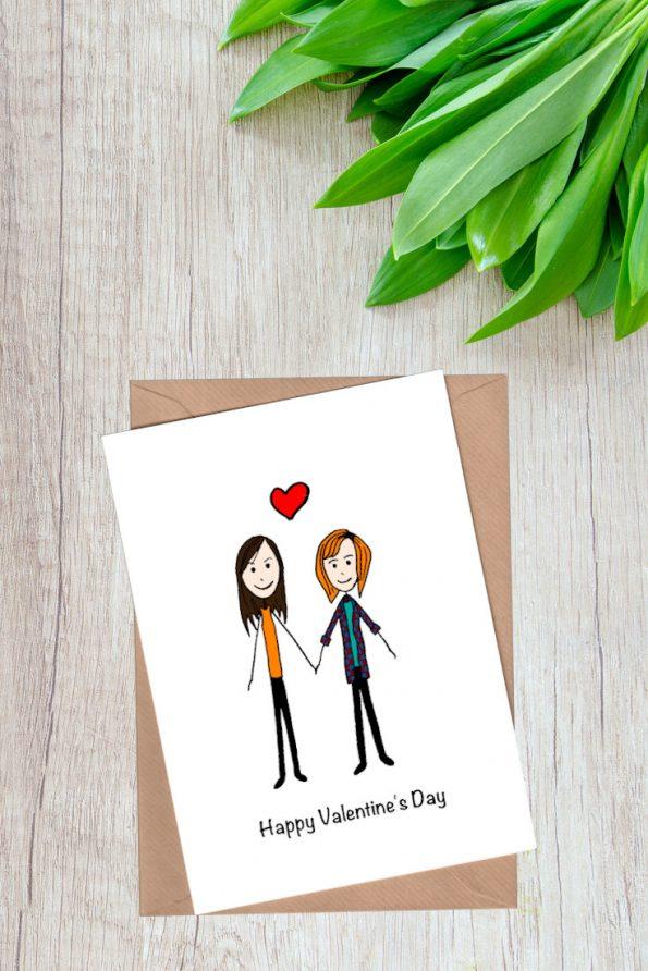 Couple Portrait Valentine Card