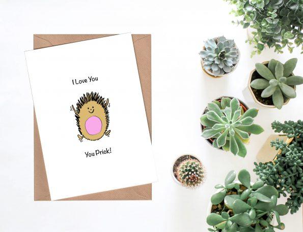 Hedgehog Valentine's Day Cards