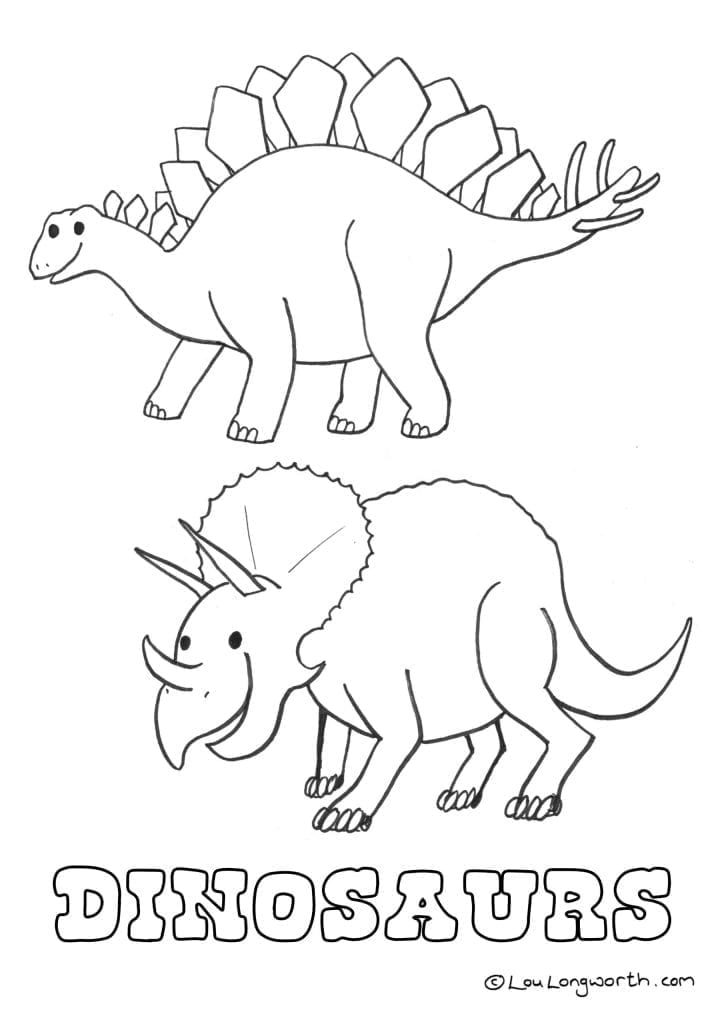 dinosaurs colouring page