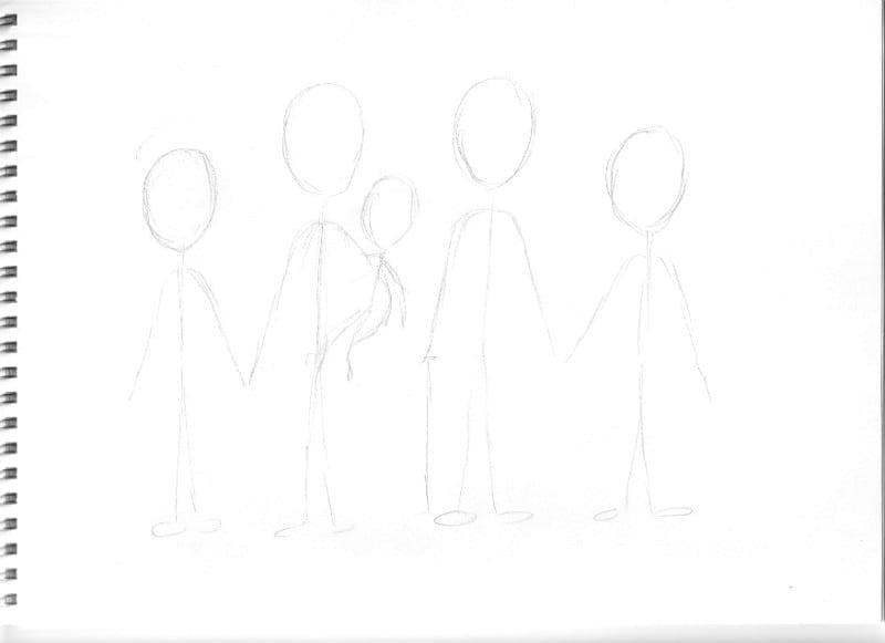 Custom cartoon portrait layout