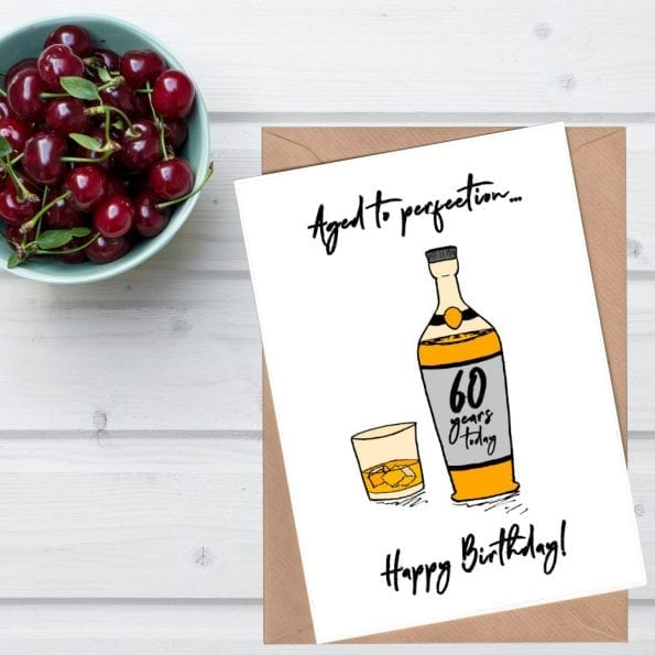 Whiskey 60th birthday card