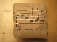 DIY Gift Wrapping Idea for Musicians by Curious Doodles