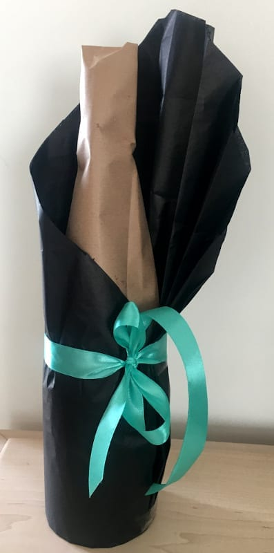 fathers day gift wrapping bottle