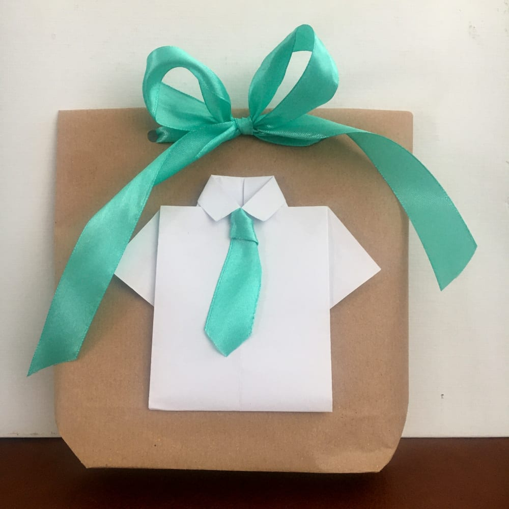 fathers day gift wrapping shirt gift bag