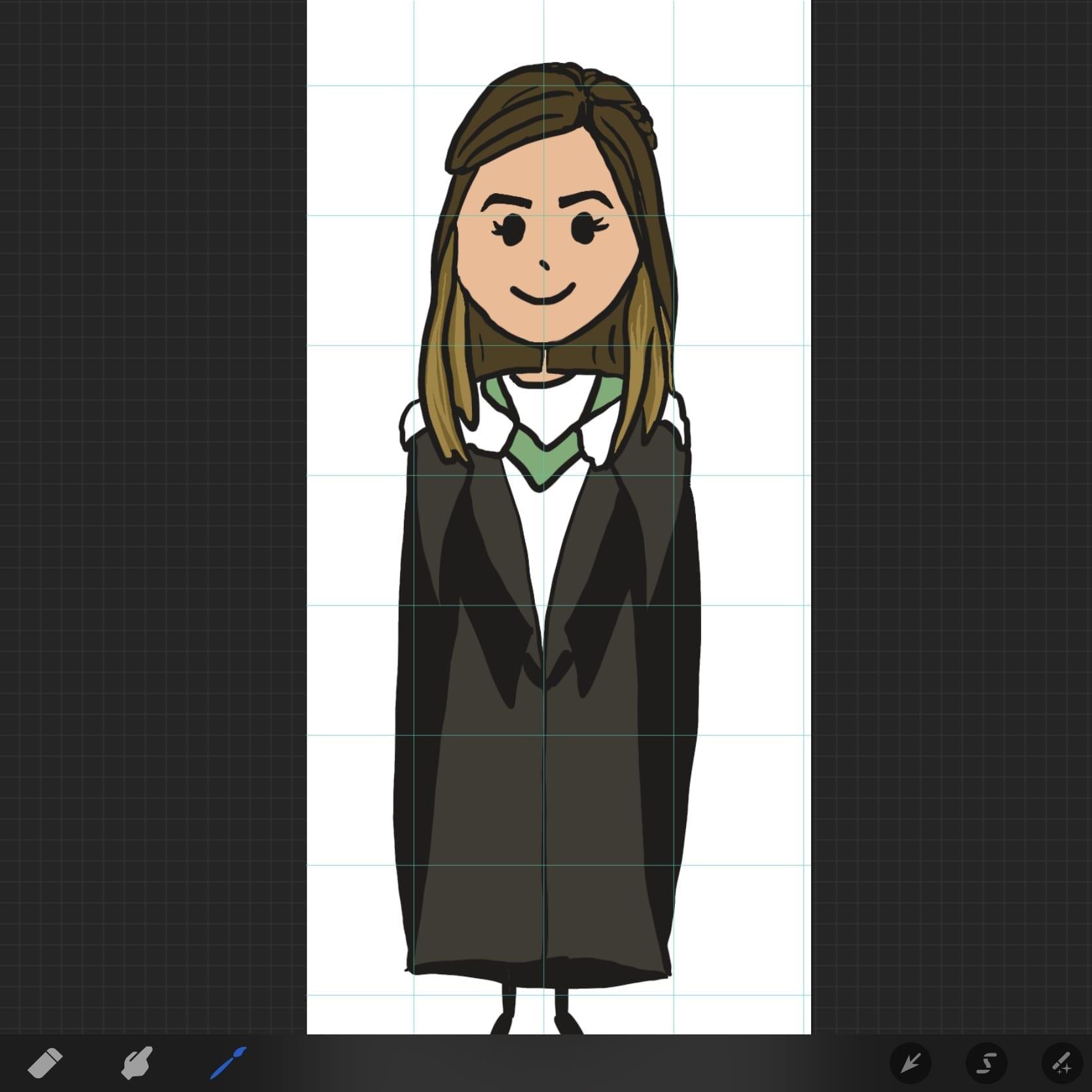 Designing greeting cards - custom cartoon portrait