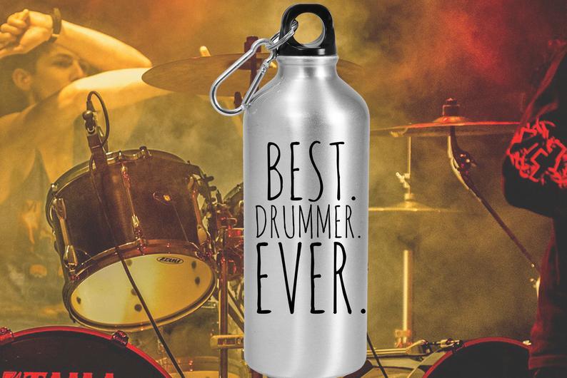 Best drummer ever water bottle