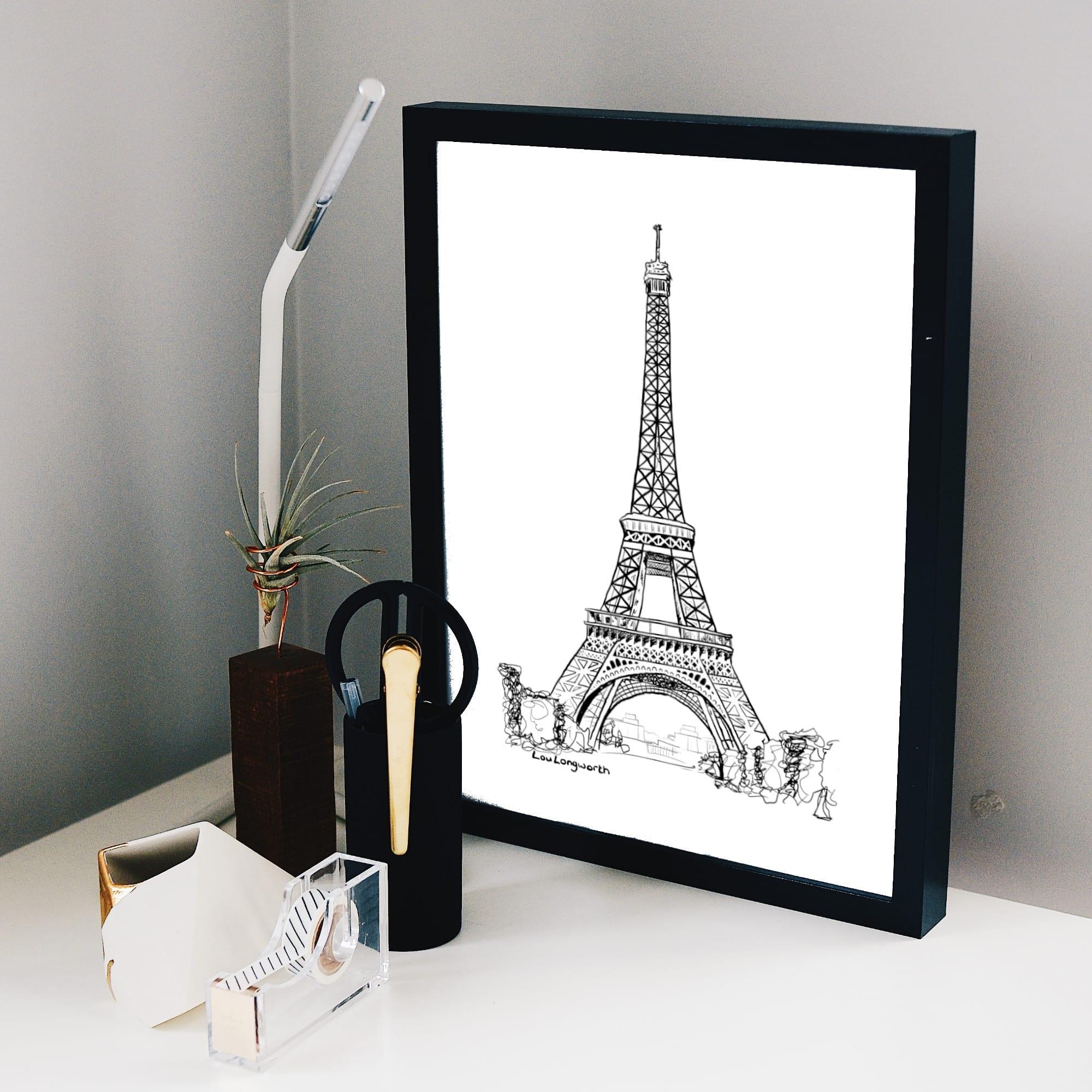 Custom illustration prints - Eiffel Tower