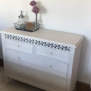 gift wrapping station in a set of drawers