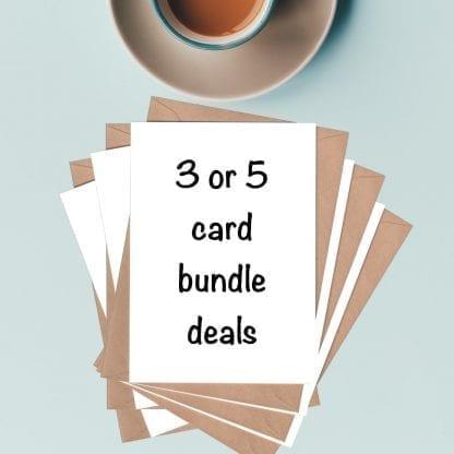 3 or 5 card bundle deals