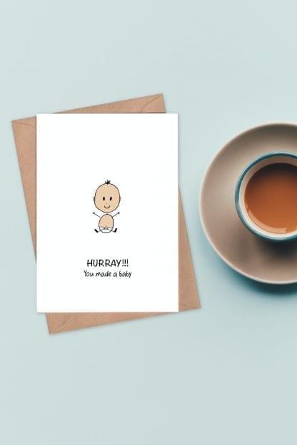 baby congratulations card pin
