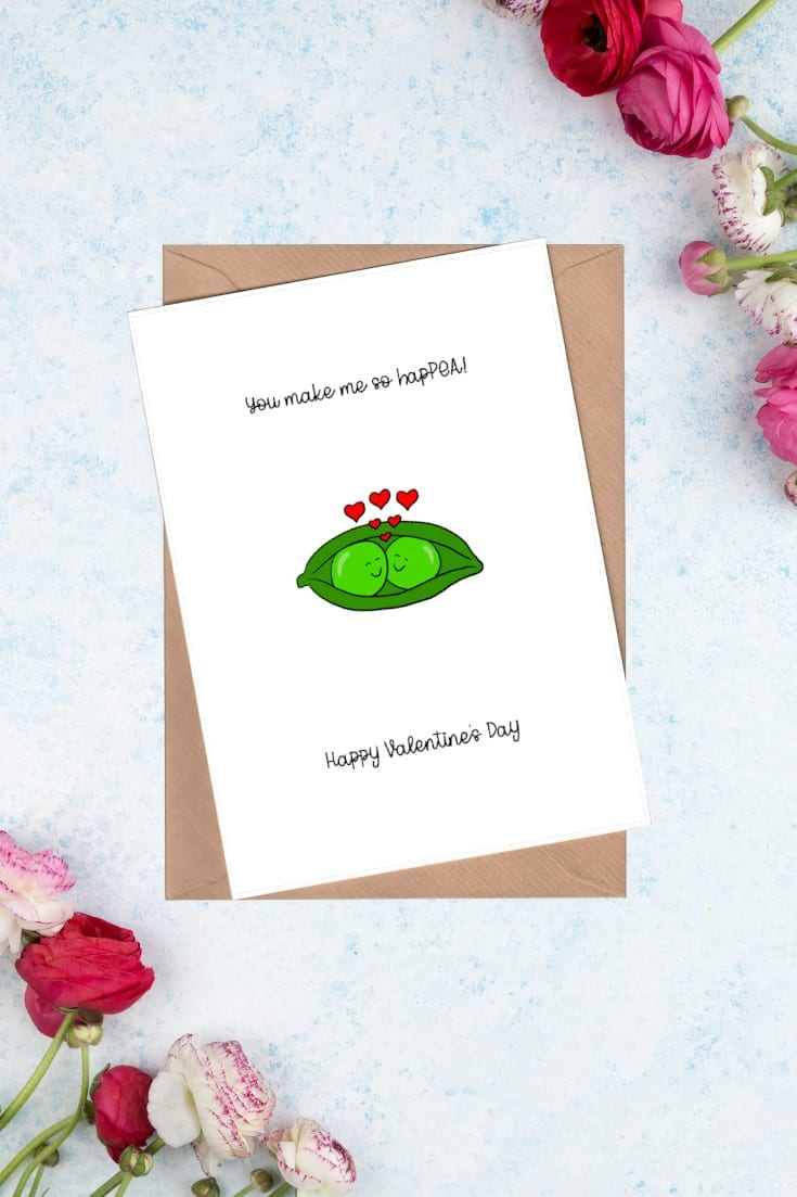 Happea Valentine card