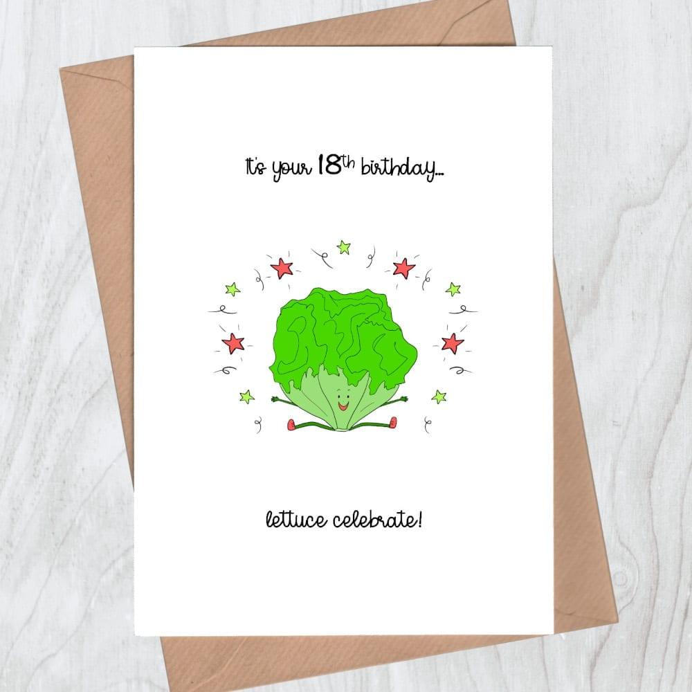 Lettuce celebrate 18th birthday card