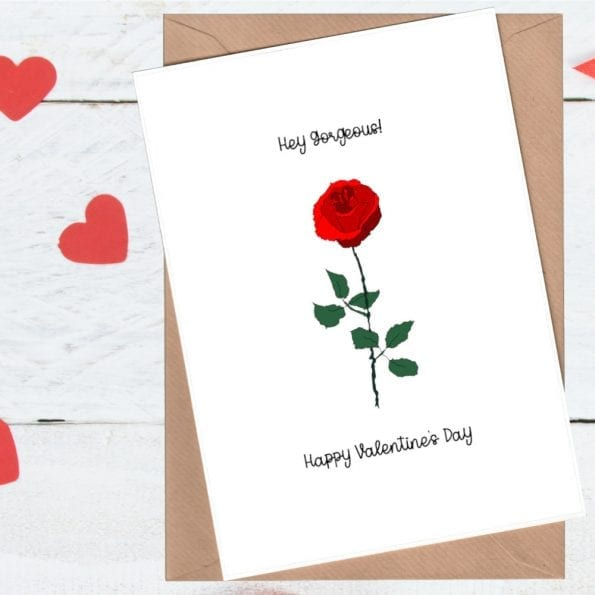 Rose valentine's day card