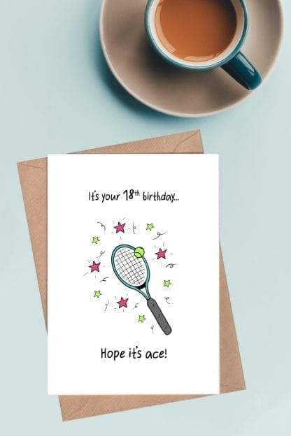 It's your 18th birthday card - Hope it's ace pin