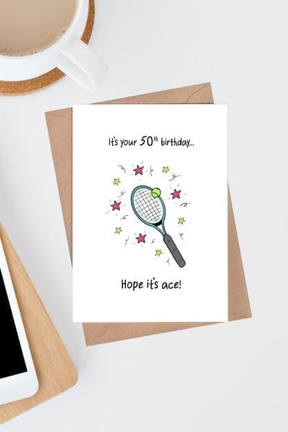 It's your 50th birthday card - Hope it's ace pin