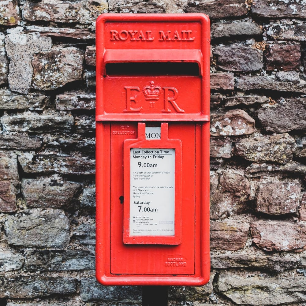 postbox for sending cards