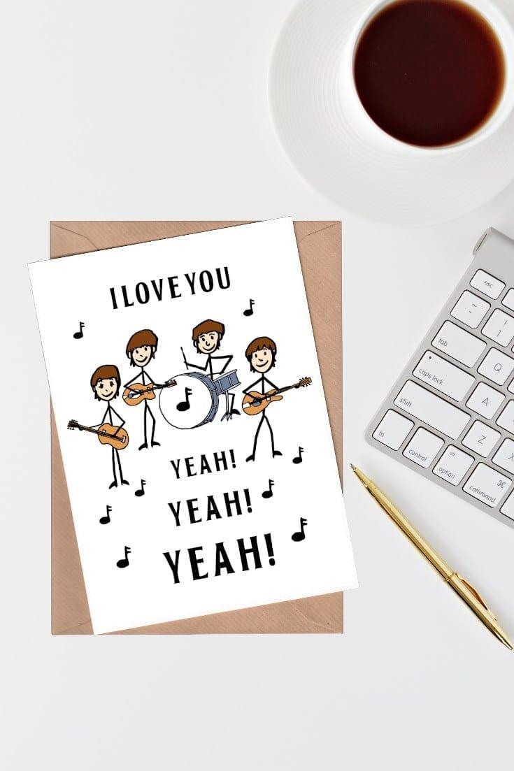 I love you yeah yeah yeah card