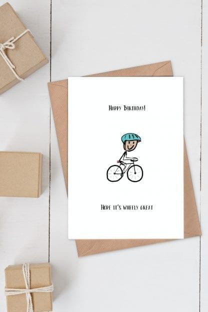 Cycling card - wheely great birthday card
