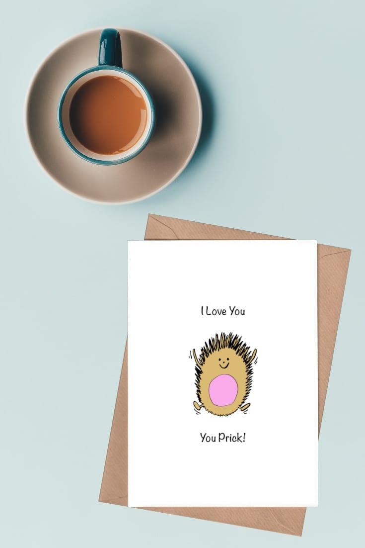 Hedgehog I Love You You Prick