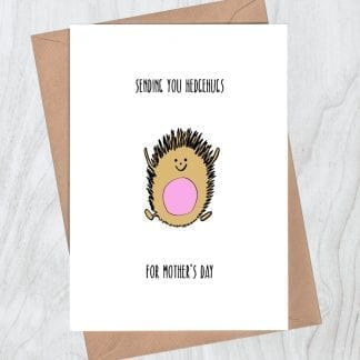 Sending you Hedgehugs for Mothers Day card