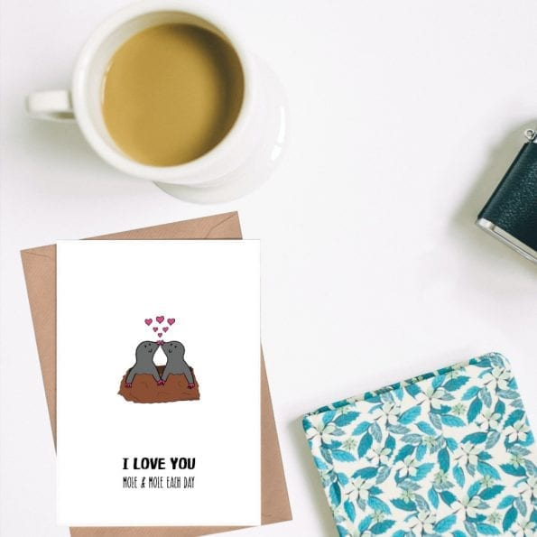 Mole and mole each day card