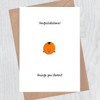 Congratulations orange you clever graduation card