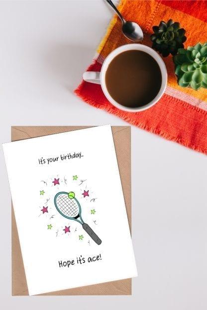 Ace Tennis birthday card p