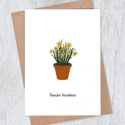 Daffodils Thank you Card s
