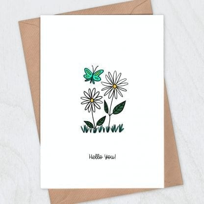 Daisies card - hello you