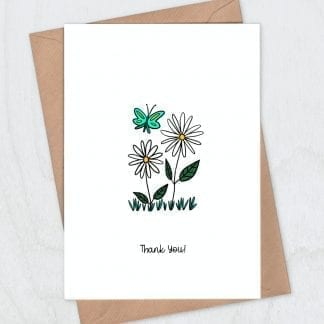 Daisies thank you card s