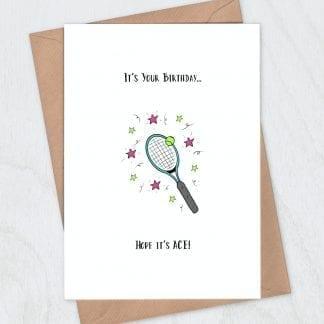 Ace tennis birthday card