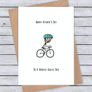 Cycling card - wheely great cycling fathers day card
