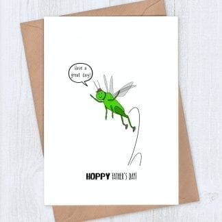 Grasshopper Father's Day card