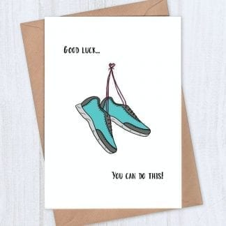 Running shoes - good luck card for runner