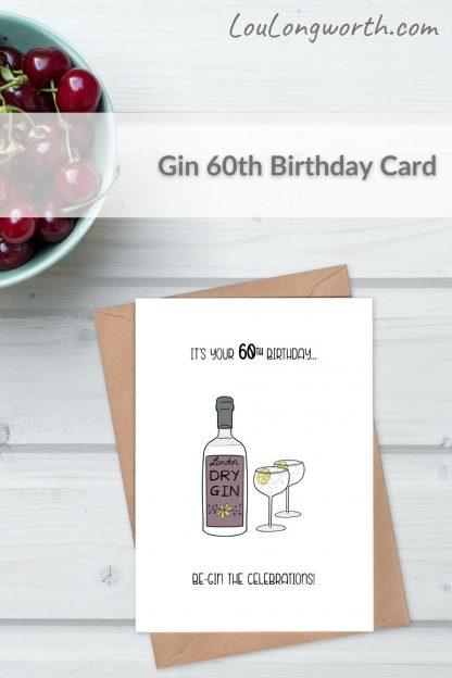 be gin 60th birthday card