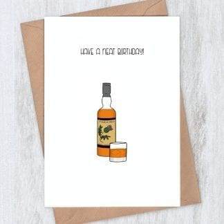 neat whiskey birthday card